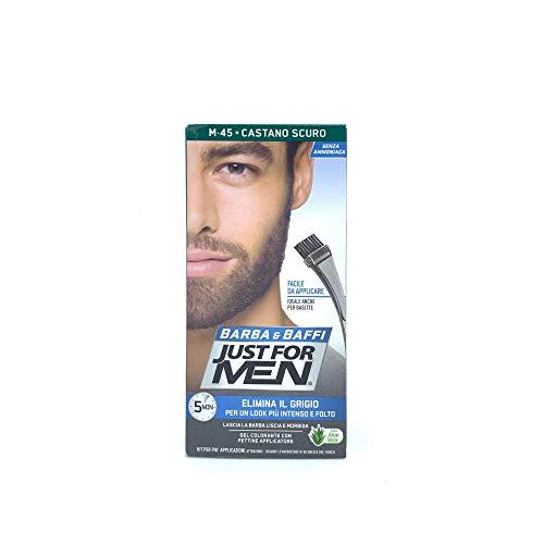 Just For Men Brush-In Color Gel för mustasch, skägg och sidobrännor, mörkbrun M-45 1 ea
