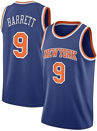 New York Knicks 9# Jersey, Barrett Baloncesto Jersey, Camiseta Deportiva sin Mangas Transpirable Fan Regalos de cumpleaños de los Small