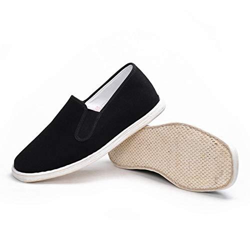 N-B Zapatos de Tela Chinos, Zapatos Individuales Hechos a Mano con Suela de Melaleuca para Hombres y Mujeres, Zapatos de Tai Chi de Artes Marciales, Zapatos Perezosos de Tela Informal de Beijing
