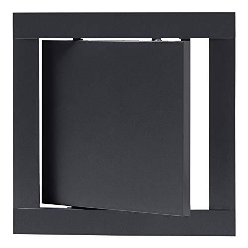 150x150 mm Revisionsklappe Anthrazit Revisionstür Wartungstür Inspektionsklappe aus Kunststoff 15x15 cm