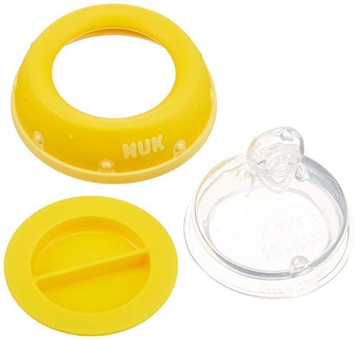 NUKヌークほ乳びんプレミアムチョイスガラス製新生児からイヤがらずに飲めるおっぱいに近いほ乳びん(柔軟に形を変えるニップル)イエローフラワー240ml(ドイツ製)0か月~耐熱ガラス製FDNK01102157