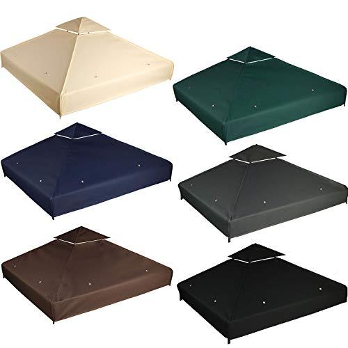 freigarten.de - Tetto di ricambio per gazebo 3 x 3 m, impermeabile, materiale: Panama PCV Soft 370 g/m² extra forte, modello 1