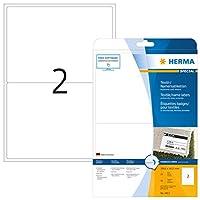 HERMA 4413テキスタイルラベルA4 199,6x143,5 mmホワイト人工シルク50個。