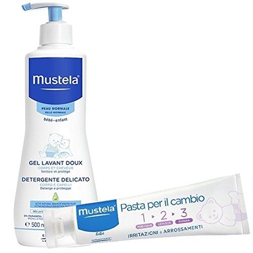 Mustela Detergente Delicato Corpo E Capelli 500 ml + Pasta Cambio 1 2 3 50 ml