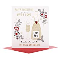 Hallmark 25497996 One I Love Mサイズ クリスマスカード「Love You」