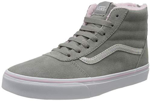 Vans Damen Ward Hi Zip Suede Hohe Sneaker, Grau ((Weatherized) Drizzle/True White T0p), 36 EU