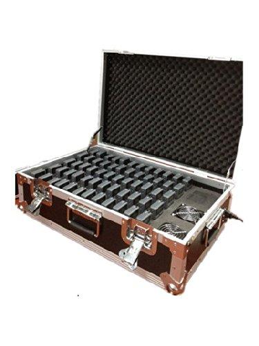 Wireless Tour Guide System für Tour Führung Simultanübersetzung Meeting Museum Paket (4 Sender + 56 Empfänger+Ladekoffer für 60 Stück Geräte)