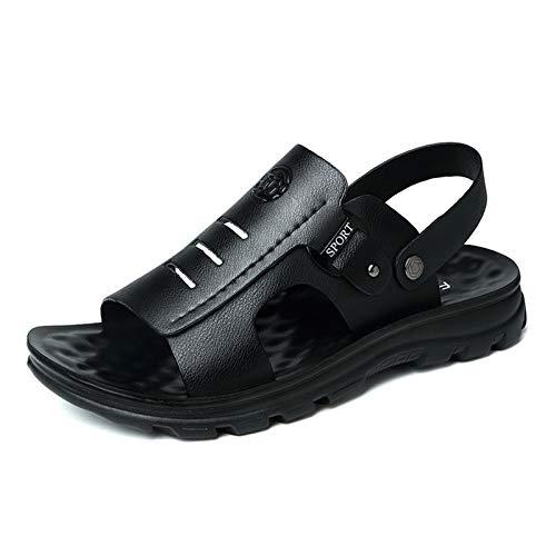 RHSML Sandalias para Hombre Sandalias De Playa Sandalias Transpirables Resistentes Al Desgaste Deportes Al Aire Libre Casual Verano Sandalias para Hombre - Dos Formas De Usar(41, Black)