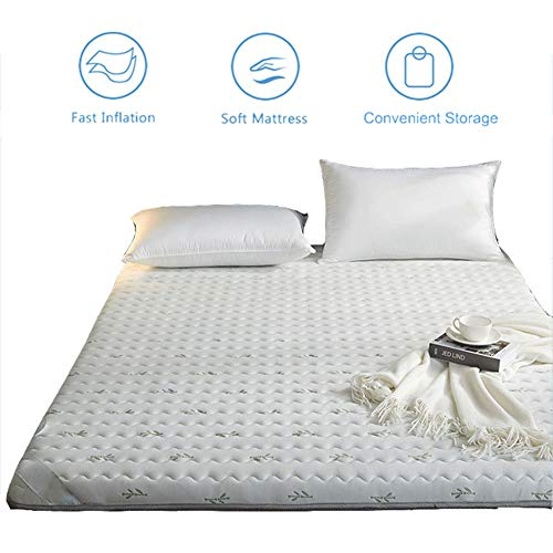New Futon Floor Mattress, Thicken Tatami Mat Sleeping Pad, Japanese Foldable Floor Futon Mattress, Student Dormitory Folding Mattress, Soft and Breathable,White,90x200cm/35×79 inch