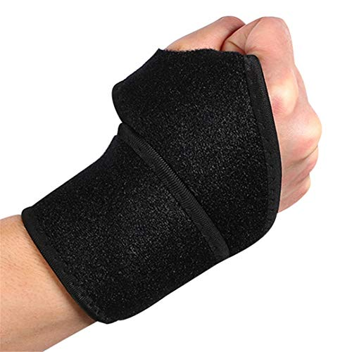 VIOST Adjustable Wrist Guard Band Brace Support Carpal Tunnel Sprains Strain Gym Strap Women Men 357Cm Black
