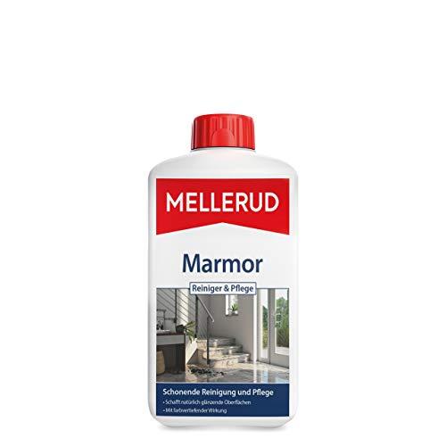Mellerud Marmor Reiniger & Pflege – Effizientes Mittel zum Schützen und Pflegen von Natur- und Kunststein Oberflächen im Innenbereich – 1 x 1 l