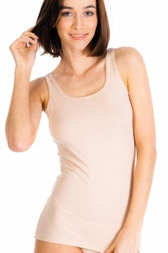 Skiny Damen Tank Top Unterhemd, Skin, 36