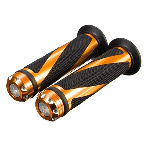 YSHTAN Lenkerabdeckung für Roller, Ersatzteile und Zubehör, 2 Stück, universal, für Motorrad, Elektromobil, Aluminium, Gummi, silberfarben goldfarben