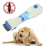 NEWFEIBIN Peine Lendrera Eléctrico Anti-Piojos, Eléctrico Tratamiento para Piojos con Cabezal Eléctrico Más Limpio para Mascotas, Perros Gatos Y Libre De Toxinas