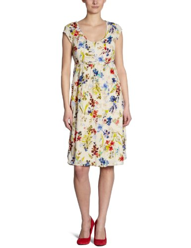 Eddie Bauer Damen Kleid (Knielang), 22208109, Gr. 34 (4), Hautfarben (Natur Bedruckt)