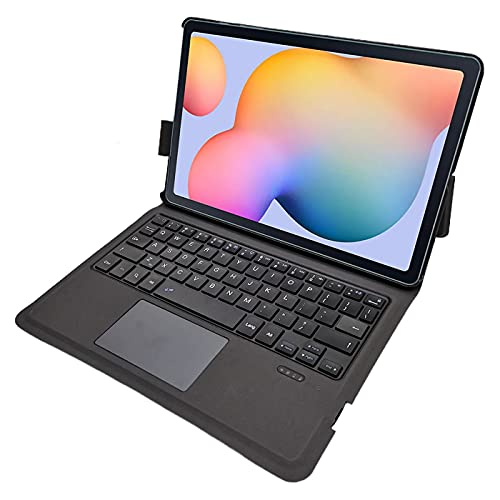 N\B Funda de teclado ultra fina para Samsung P610/P615, cubierta de teclado de aluminio (TOUCHPAD Mouse) Smart Case para Samsung Galaxy Tab S6 Lite (10.4'')
