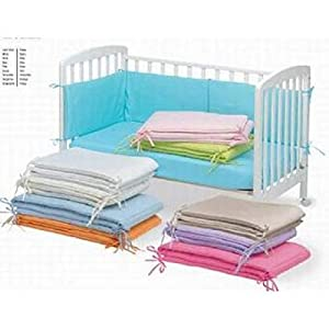 Pirulos 43300004 - Protector para cuna, algodón, color rosa,