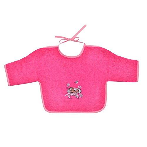 Wörner pour bébé fille ours/chapeau de paille rosenpink «bavoir à capuche gant peignoir de bain poncho