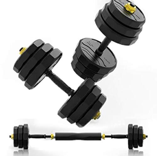 IRUI Free Weights Dumbbells Set Adjustable Fitness Dumbbells Set with Connecting Rod Can Be Used As Barbell for Gym Work Out Home Training Suitable for Men and Women 22Lbs/10KG 2Pieces/Set