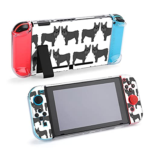 Case for Nintendo Switch,French Bulldog in Action Protective Case Cover for Nintendo Switch Funny Fashion Switch Game Shell Handheld Grip Protector Cover