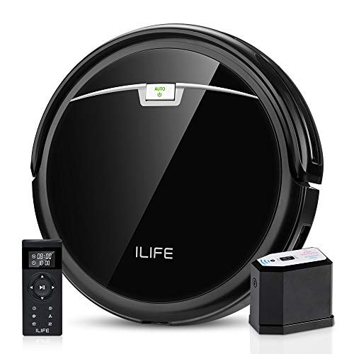 ILIFE A4s Pro Robot Vacuum, 2000Pa Max Suction, ElectroWall, Remote Control, Slim, Thin, Quiet, Self-Charging Robot Vacuum Cleaner, Smart, Ideal for Hard Floor to Medium Carpet