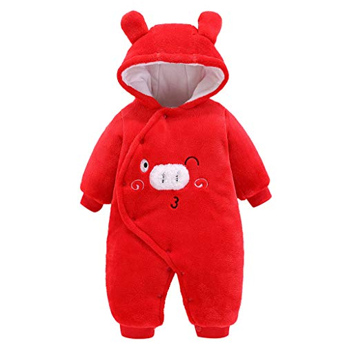Fantastic Deal! GorNorriss Baby Newborn Baby Warm Bear Footie Romper Thick Fleece Jumpsuit Winter Ou...