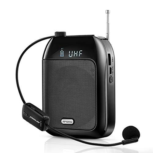 Riiai Microphone Amp Speaker Portable Voice Amplifier 15W Voice Loudspeaker...