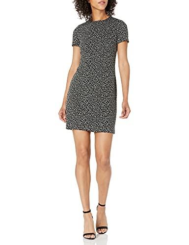Calvin Klein Women s Short Sleeves Shift Dress, Black Charcoal, 8