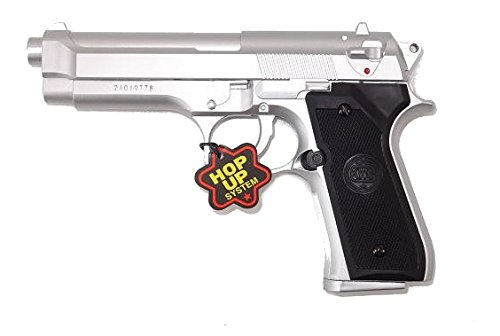 KWC Pistola da softair M92 model- 0,5 joule, colore silver, a molla/manuale