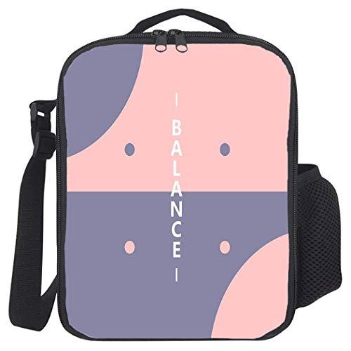 Romantische Themen-Lunch-Tasche mit Reißverschluss, auslaufsichere, mit Polyester isolierte Kühltaschen für Schule, Arbeit, Halbkreisformen mit Tupfen