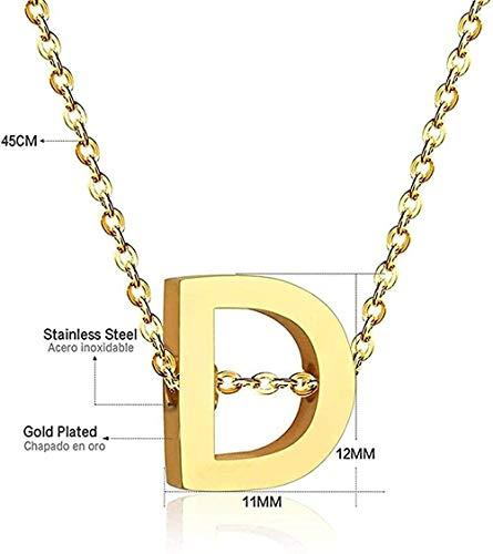 ZJJLWL Co.,ltd Collar Collar con Letras para Mujer Joyas de Acero Inoxidable 26 Collar con Iniciales Collares con Letras