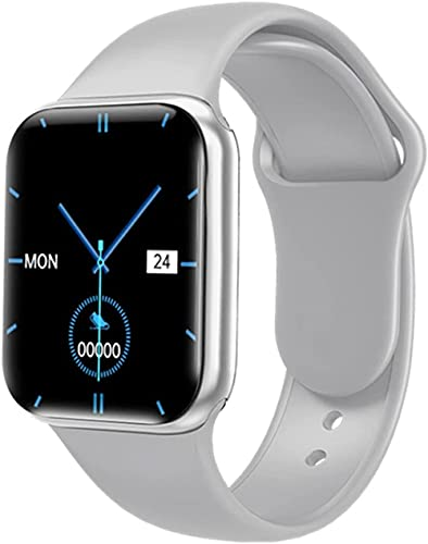 Reloj inteligente para hombres 1 57 Fitness Tracker Full Touch Bluetooth Smartwatch mujeres ritmo cardíaco Monitor Relojes para IOS Android-B