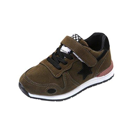 FNKDOR Baby Kinder Laufschuhe Jungen Mädchen Mesh Schuhe Turnschuhe Sneaker (29, Grün)