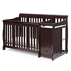 This image shows Storkcraft Portofino 4-in-1 that is the best crib with changing table in my review