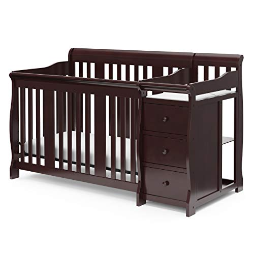 Storkcraft Portofino 4-in-1 Fixed Side Convertible Crib and Changer