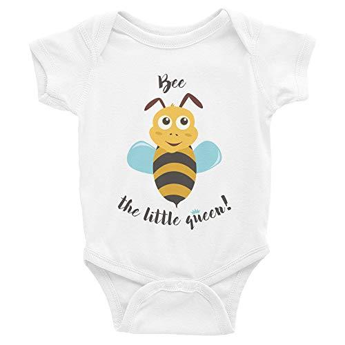 Promini Combinaison pour bébé mignonne – Bee The Little Bee Queen – Body pour bébé en une seule pièce - Blanc - 9 mois