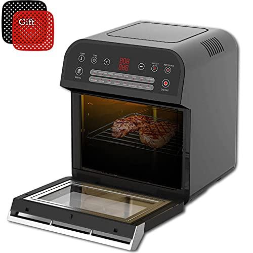 Freidora de aire sin aceite de 1600W y 12L, horno de salud, olla inteligente táctil LED, multifunción para Pizza y patatas fritas