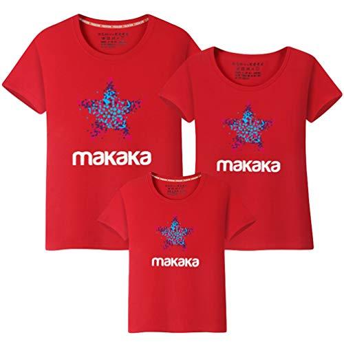 MisFox Camiseta Familiar Kit Manga Corta Cuello Redondo Imprimiendo Camisa Ropa Igual para Padres e Hijos