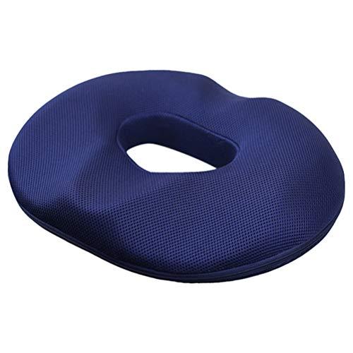 iplusmile Cojín del Asiento Confort Cojín del Asiento de Espuma Viscoelástica Cojín del Asiento para Silla de Oficina (Azul Oscuro)