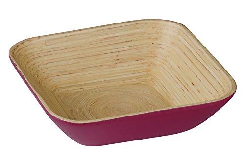 Premier Housewares Saladier Kyoto 1104387 Bambou filé Framboise 25 x 25 x 7 cm