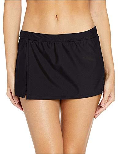 Catalina Women's Standard Skirted Bikini Swim Bottom Swimsuit, Black, Medium