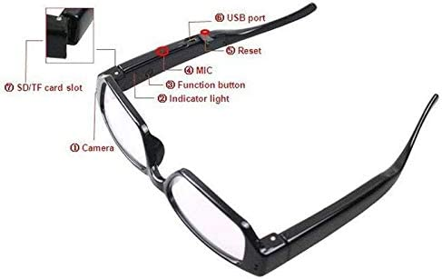 CINASPECS HD Video Recorder/Camera Glasses (32GB SD Card Included)
