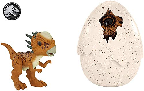 Jurassic World Dino recién nacido Stygimoloch Stiggy, dinosaurio de juguete (Mattel FMB95)