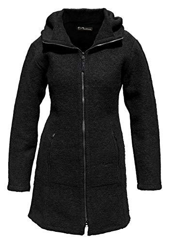 Mufflon® Damen Wollmantel Rika, Farbe:Schwarz, Größe:L