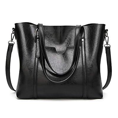 Pahajim Women Leather Top Handle Handbags Satchel Purse Shoulder Bag Lady Tote Bag