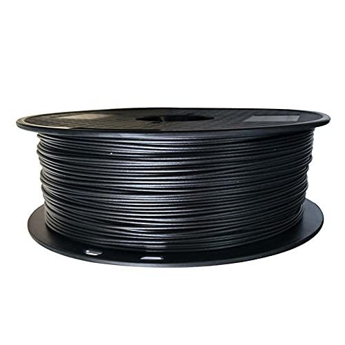 Filamento de la impresora 3D 1.75mm, Filamento de PLA conductor, negro, 1 kg de carrete
