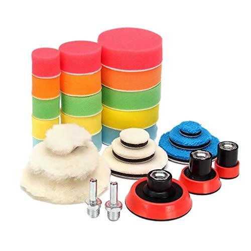 P Prettyia Kit de Almohadillas de Pulido de Coche Almohadilla de Pulido de 3 Pulgadas para Pulir El Esmalte de Sellado