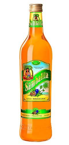 Sambalita Exotic-Likör, Kultlikör der 80er Jahre, Fruchtlikör mit dem Geschmack sonnengereifter Passionsfrüchte 18% vol. (6 x 0.7 l)