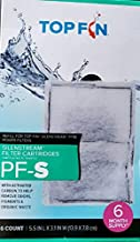 Top Fin Silenstream PF-S Small Filter Cartridges (6 Count) Refill for PF10 Power Filters (5.5in x 3.1in)