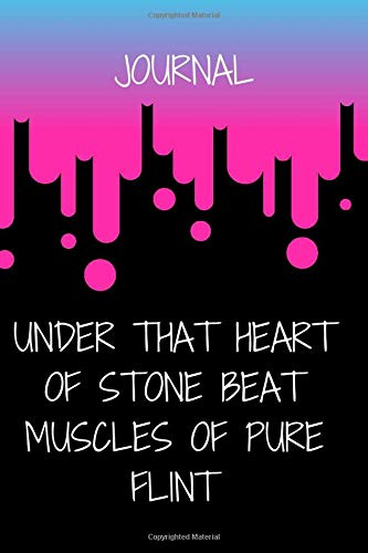 Under that heart of stone beat muscles of pure flint : Inspirational journal for women to write in 2020: Lined Note book Motivational Quotes 120 pages grateful cover 6x9 Matte finish